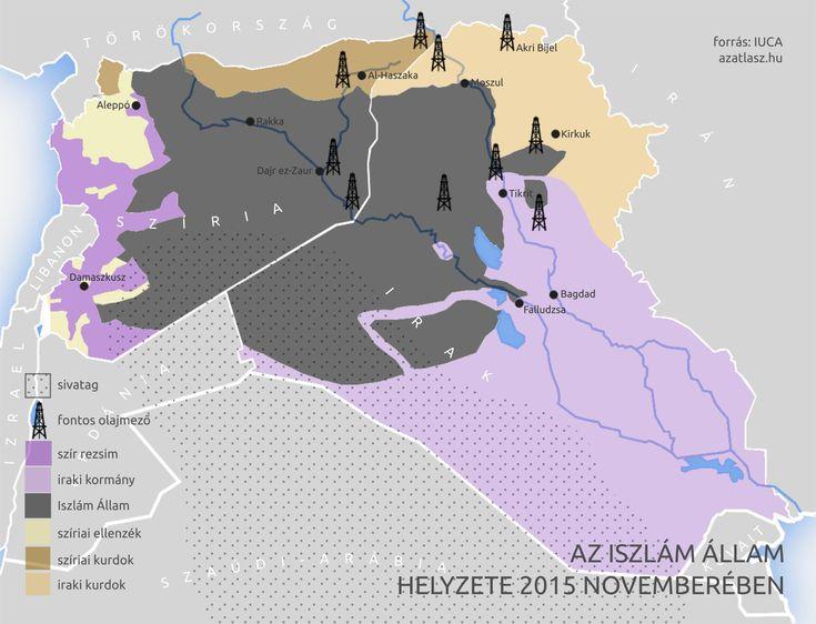 Az Iszlám Állam területe, 2015 november