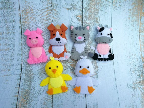 Old Macdonald had a farm Finger Puppets,animals finger puppets felt toy baby Learning toddler toys First birthday gift