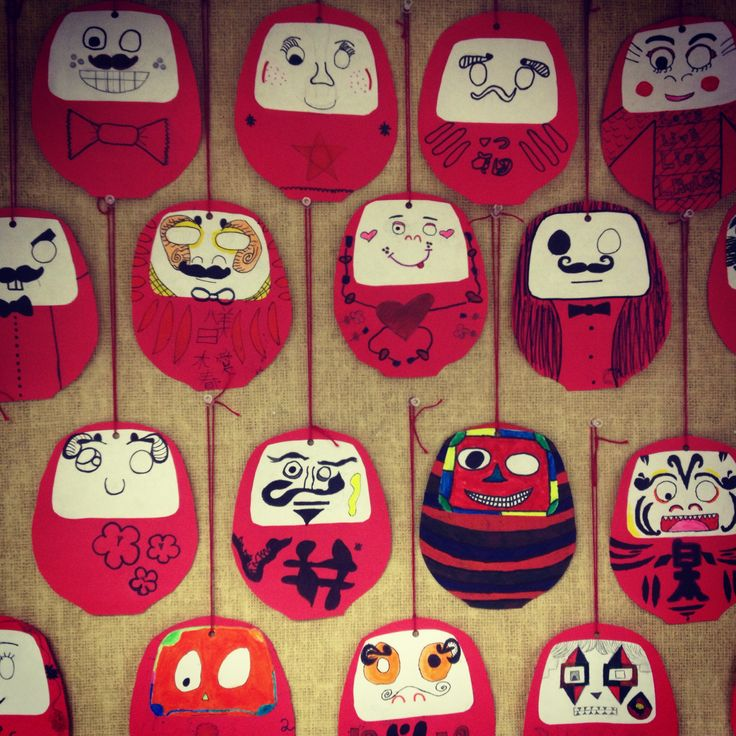 Japanese Daruma dolls---This is a Japanese Daruma doll, you color one of the eyes while you make a wish and when the wish comes true you have to color the other eye. No instructions but looks very easy to make.
