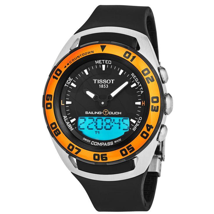Tissot Men's T056.420.27.051.02 'Sailing Touch' Black Dial Black Strap Multifunction Digital Swiss Quartz Watch