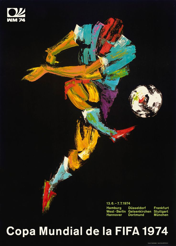 Cartel oficial del campeonato mundial de futbol de Alemania 1974 - Official poster of the football World Championship Germany 1974