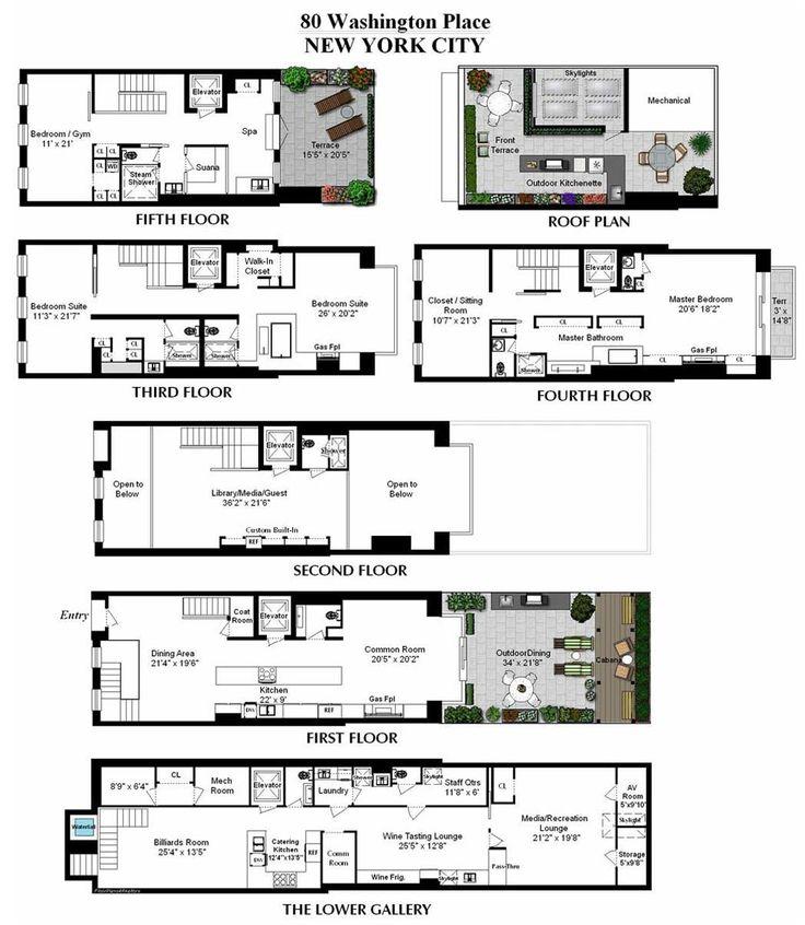Four Bedroom Apartments Nyc: Best 25+ Condo Floor Plans Ideas On Pinterest
