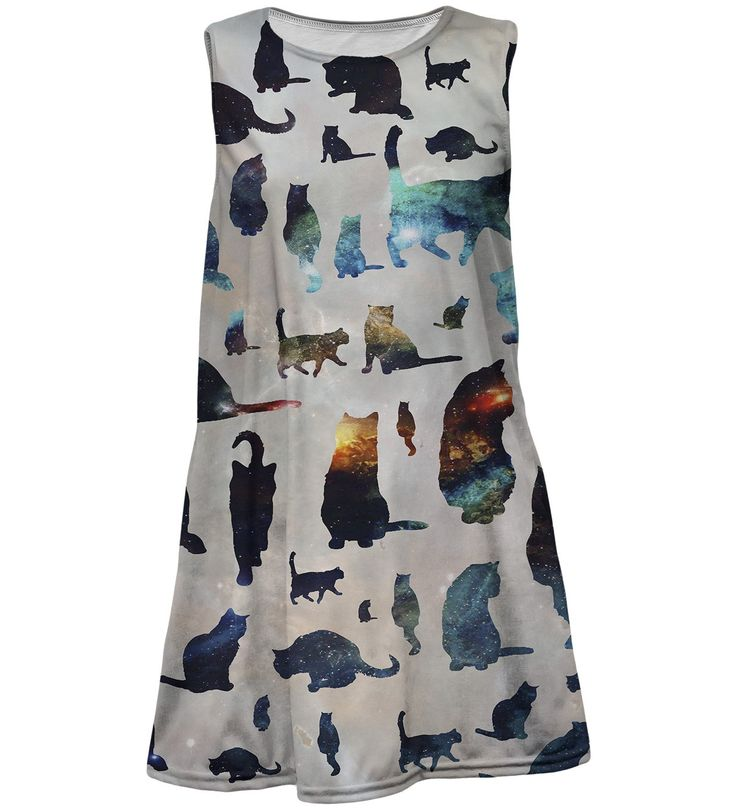 Galaxy cats summer dress for kids, Mr. GUGU & Miss GO