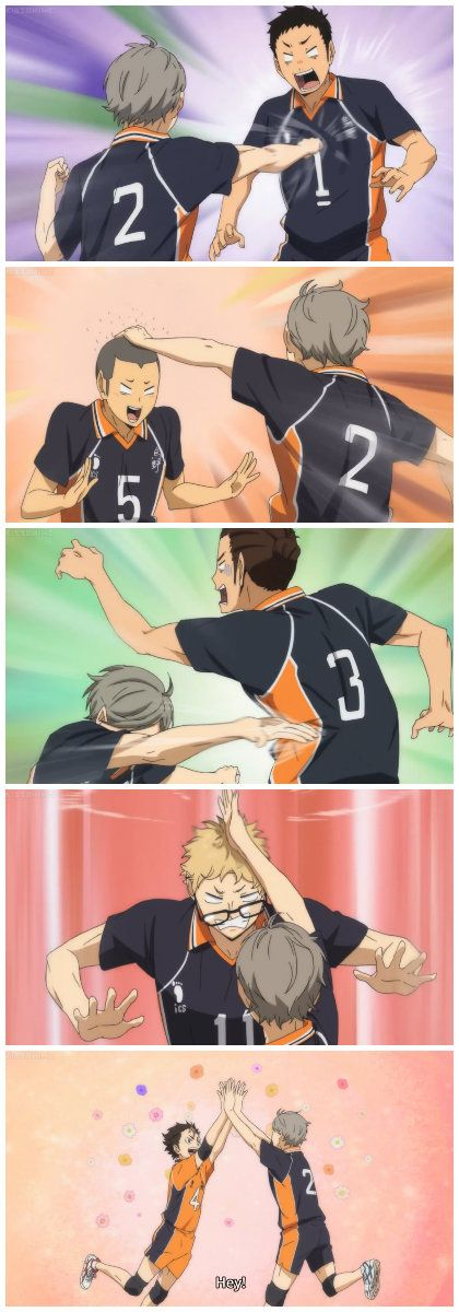 talk about switching it up lol from brooding king to spastic mother XD SUGAWARA FTW!