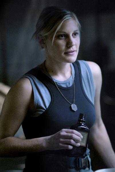 Starbuck aka Kara Thrace from Battlestar Galactica