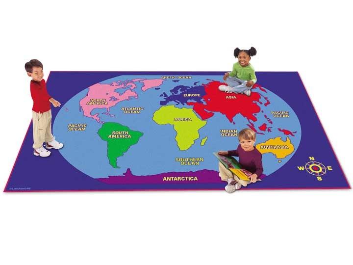 World Map Rug #LakeshoreDreamClassroom