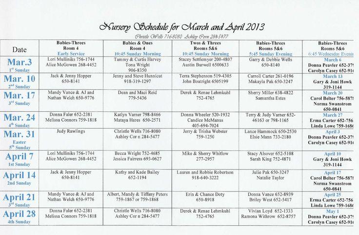 Nursery Calendar Ideas : Images about church nursery decor ideas on