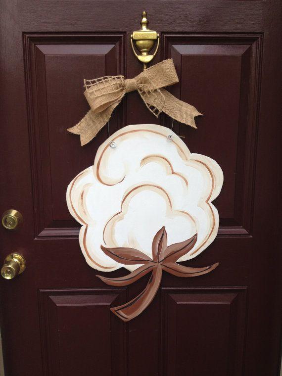 Cotton Door Hanger, Welcome Door Hanger, The Gilded Polka Dot, Fall Door  Hanger, Personalized Door Hanger, Wedding Gift Door Hanger