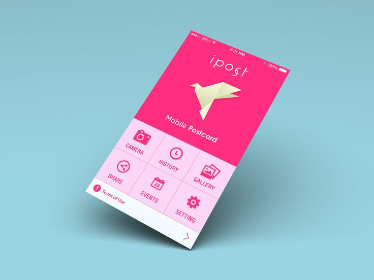 Postcard App Home Screen