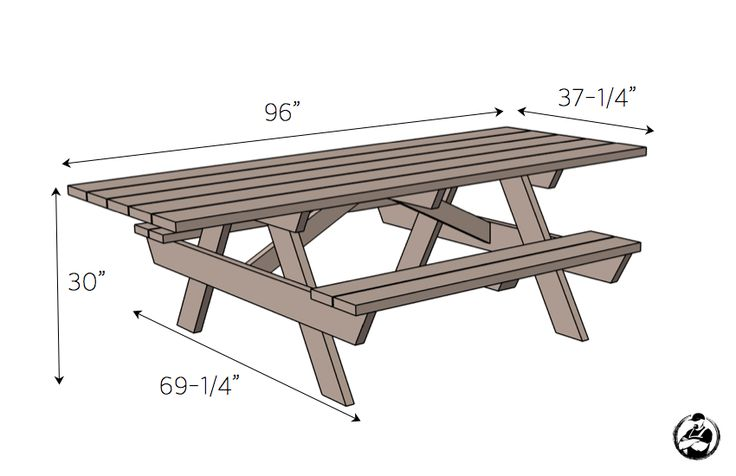 Best 25 picnic table plans ideas on pinterest outdoor for Wheelchair accessible picnic table plans