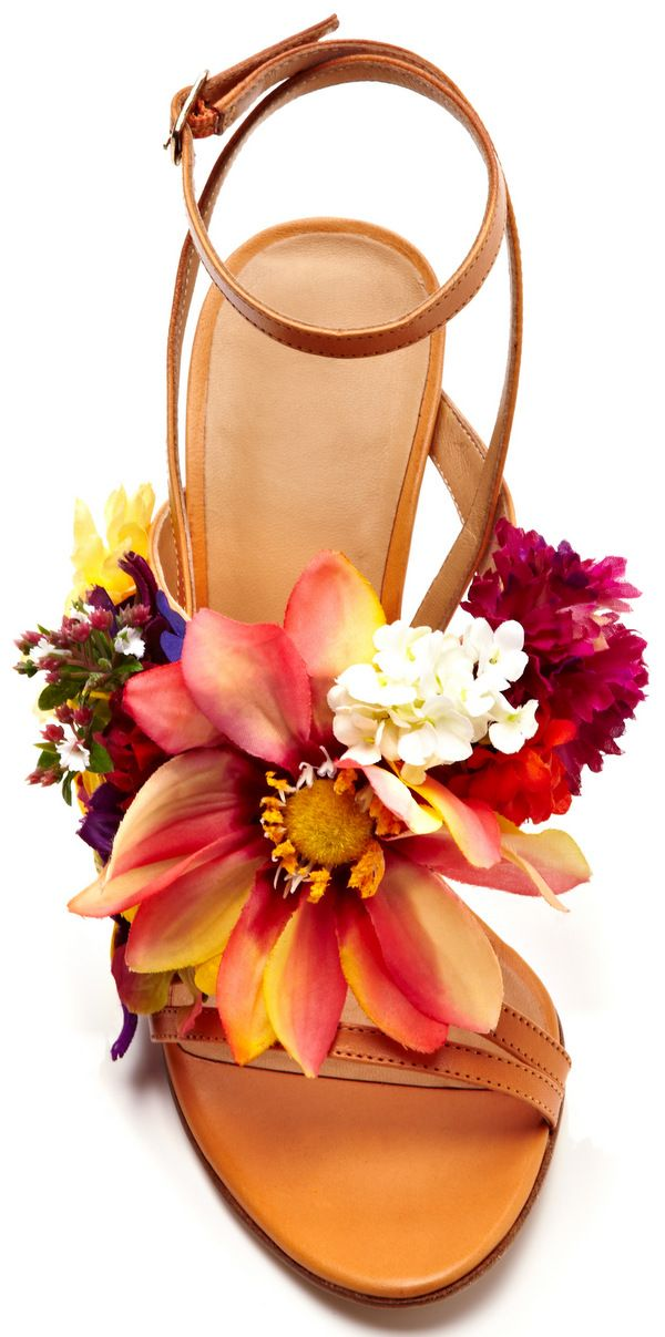 Kotur Floral Jardines Silk Flowers Vachetta Sandal #shoes #KOTUR #SS14