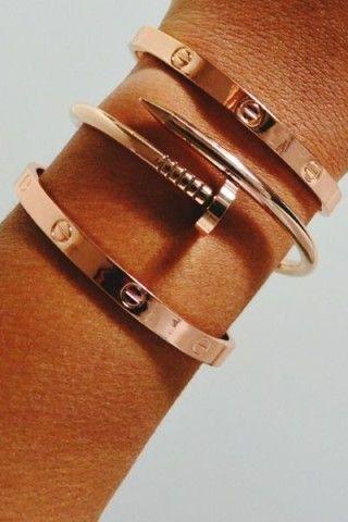 Rose Gold ~ Colette bracelet clou