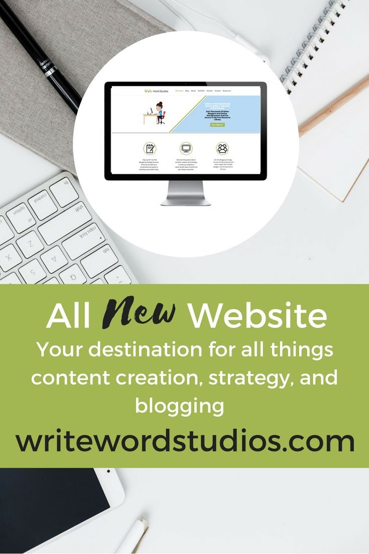 New website with even more info on content creation and blogging strategies