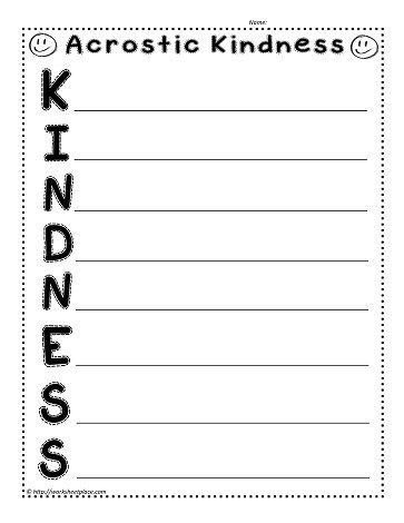 kindness acrostic eli teaching poetry books about kindness kindness poem. Black Bedroom Furniture Sets. Home Design Ideas