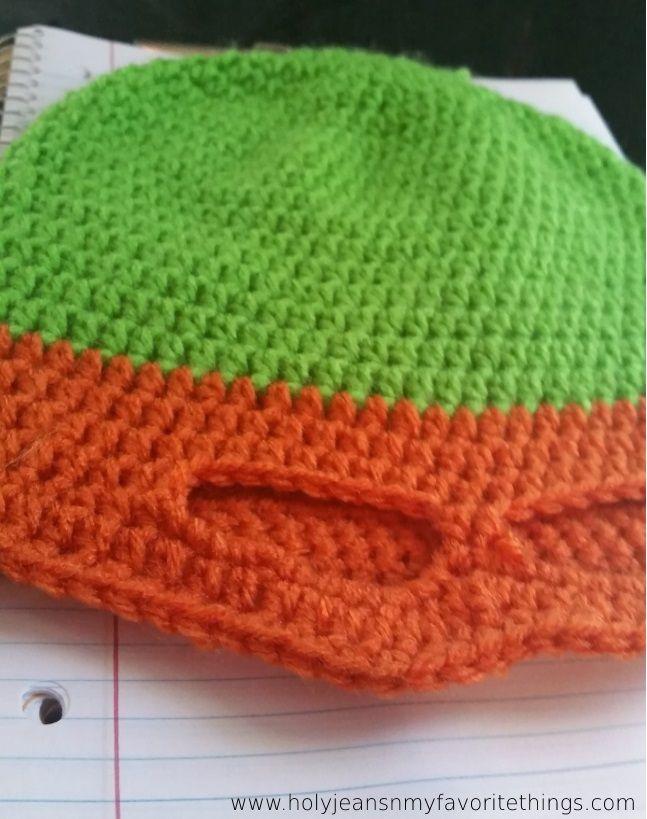 FREE Crochet Ninja Turtle Mask Beanie Pattern Size Small - Holyjeans and My Favorite Things