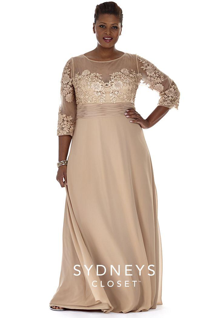 Plus Size Formal Dress Sleeves | Sydney's Closet