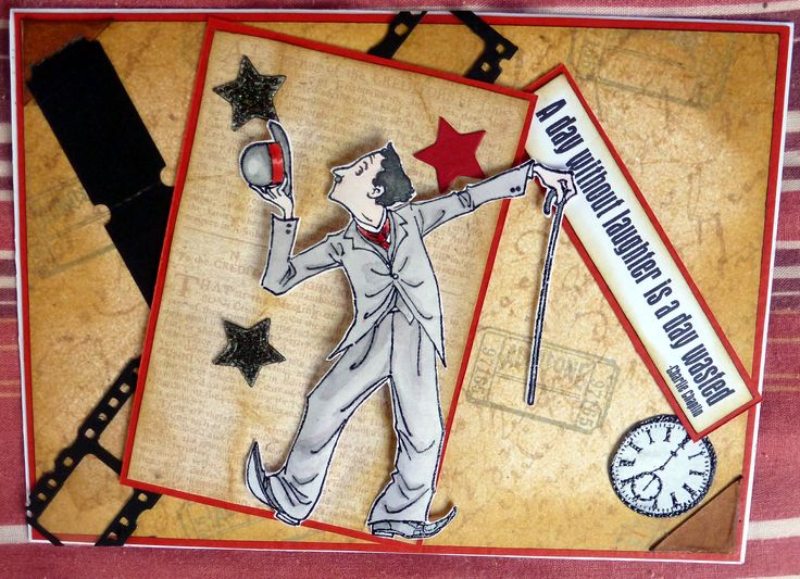 Penny Black. Charlie Chaplin stamp