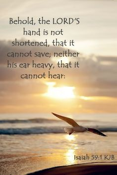 Isaiah 59:1-2  KJV  ~  Behold, the Lord's hand is not shortened, that it cannot save; neither his ear heavy, that it cannot hear:   but your iniquities have separated between you and your God, and your sins have hid his face from you, that he will not hear.