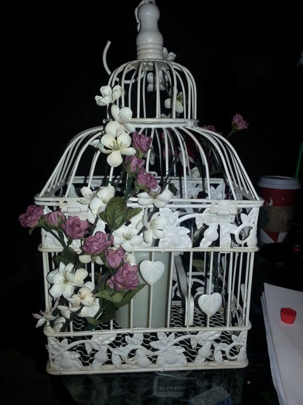 Help!! What do you think of My Vintage Birdcage centerpieces!?? :  wedding birdcage centerpieces diy reception 20121201 120940