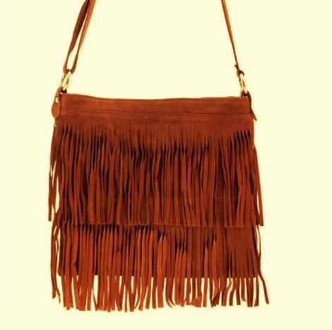 SALE! Fringes Suede Bag, Messenger Purse Bag, Leather Bag, Boho Shoulder Fringe Bag, Suede Fringe Bag, Leather Stylish Purse, Be a Star by ENOTIA on Etsy