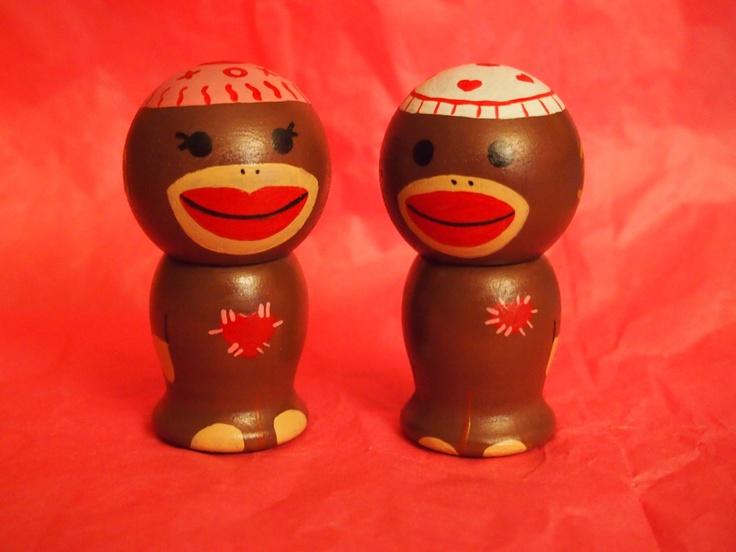 Sock Monkey couple RTS. $25.00, via Etsy.