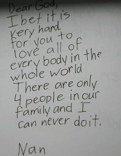 This gave me a good laugh! Hahaha, kids letter to God.