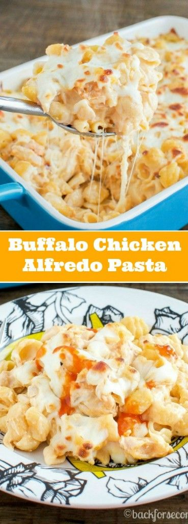 Buffalo Chicken Alfredo Pasta Bake by Back for Seconds