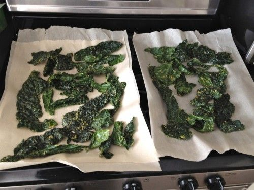 """""""Oven Dehydrated"""" Kale Chips (no dehydrator needed!) 