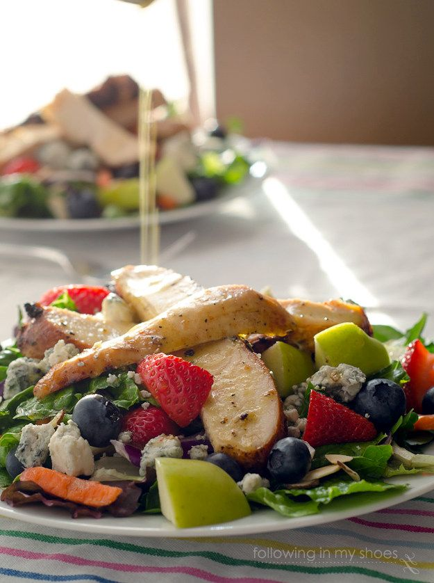 Copycat Chickfila Grilled Market Salad is an easy, delicious dinner thanks to a perfect copycat Chickfila Grilled Marinade & Zesty Apple Cider Vinaigrette.