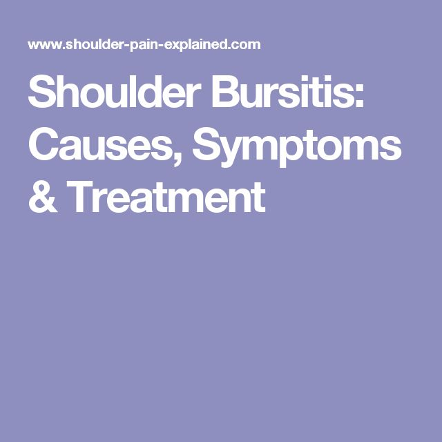 Shoulder Bursitis: Causes, Symptoms & Treatment More