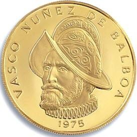Vasco Nunez de Balboa. Panama's 100-Balboa Gold Coin Made History  In January 1975, the Franklin Mint announced that it would display the first gold coin minted in the United States for Americans since the removal of the government's 41-year ban on ownership of modern gold coins.    The display highlighted the 1975 100-Balboa of the Republic of Panama, the first gold coin of any nation to be minted in the United States since April, 1933 which could freely be owned by U.S. Citizens.