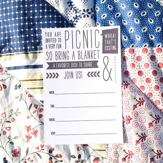 picnic invitations, engagement party
