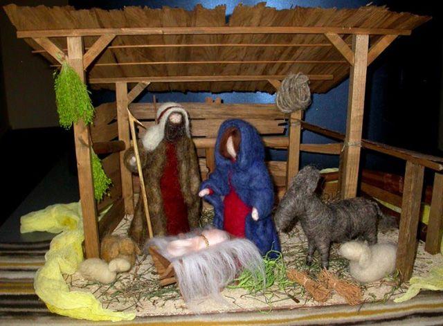 Рождественские вертепы своими руками-3