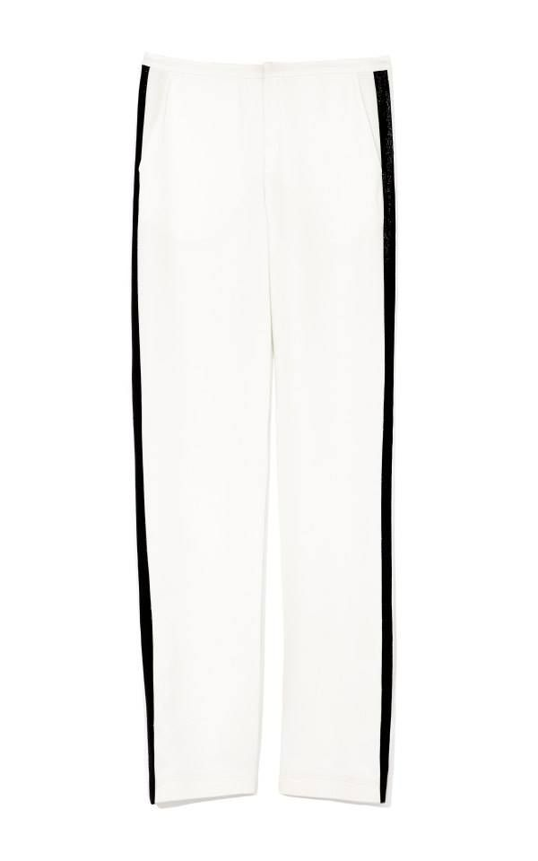 Clover Canyon Tuxedo Pant with Lame Stripe. Again, great with the matching jacket or extremely versatile on their own. These pants are BEGGING to be worn with a strappy sandal or pointed toe pump!