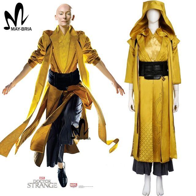 Dottor Strange cosplay costume da supereroe costume Dottor Strange Antico Un cosplay costumi fatti su misura Marvel Movie costume