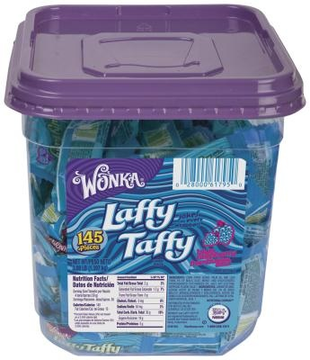 Red White and Blue Candy Buffet Ideas - Blue Raspberry Laffy Taffy