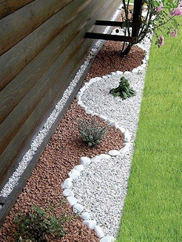 Aménagement du jardin avec des pierres