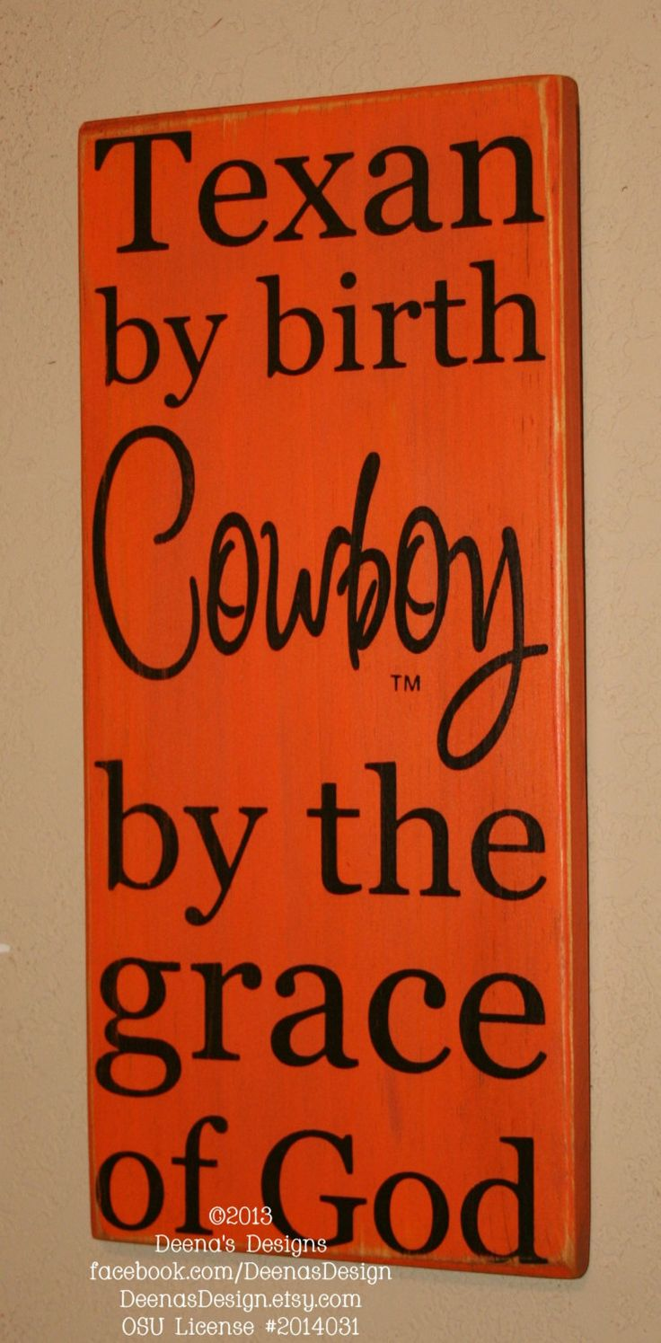 Oklahoma State University Wall Art OSU Cowboys by DeenasDesign, $33.00