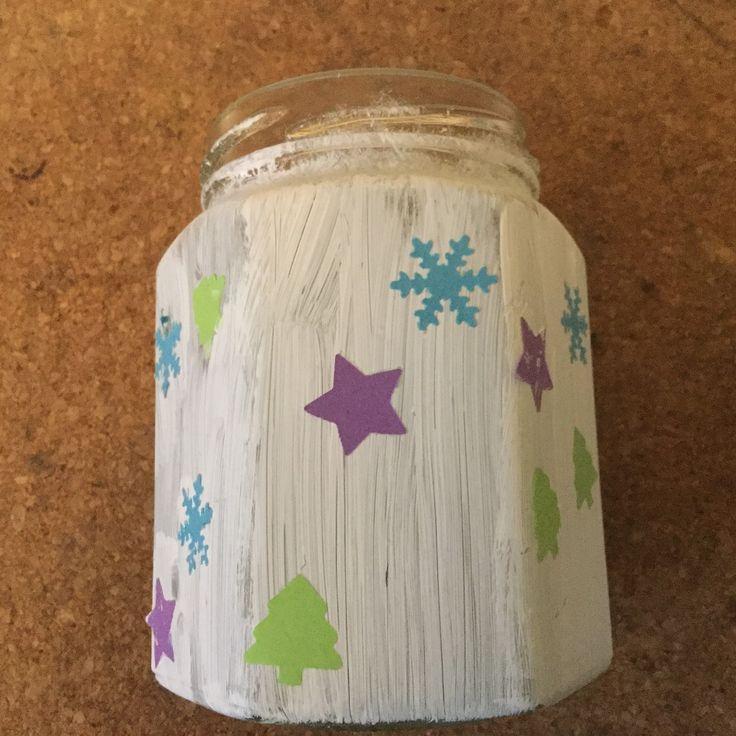Marmeladenglas Acrylfarbe Stanzmotive Windlicht Kindergarten geeignet