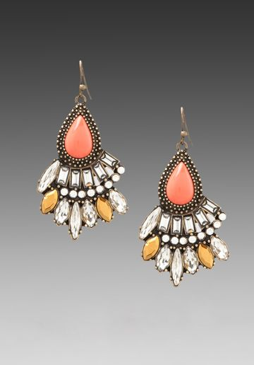 { SAMANTHA WILLS Endless Night Earrings in Coral at Revolve Clothing }