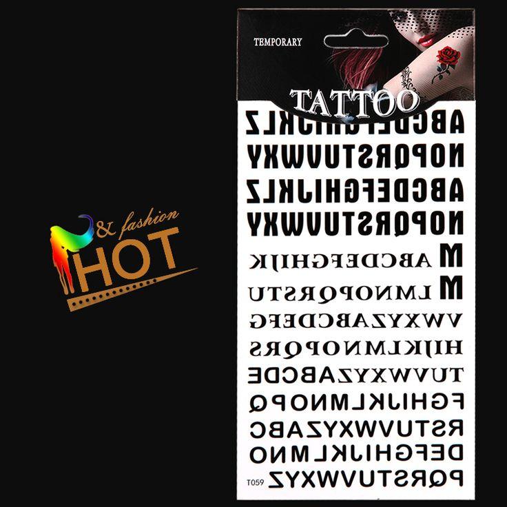 Temporary Tattoos Letters/armwaistbackbody/Alphabet A To Zsticker