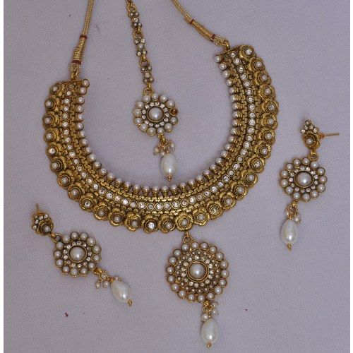 Online Shopping for Bridal Necklace Set   Necklaces   Unique Indian Products by Swarajshop - MSWAR26043762670