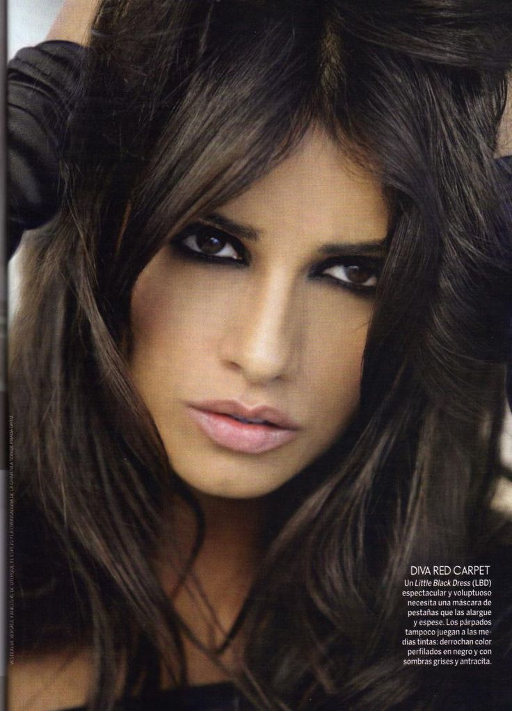 monica-cruz-elle-magazine - Smoky eyes