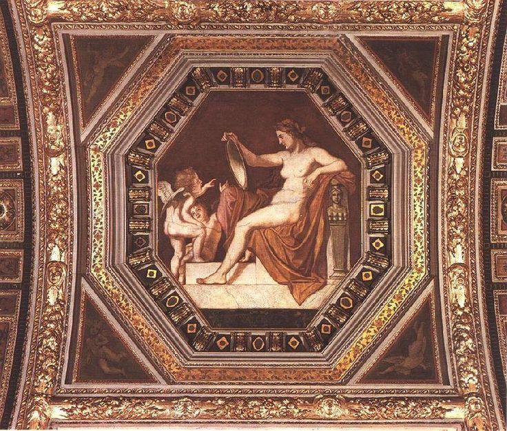 Károly Lotz (1833-1904) Allegorical Figure of Reality after 1877 Tempera on wall - Lotz Károly (festő) – Wikipédia (A valóság (részlet) tempera falkép, Régi Műcsarnok Budapest)