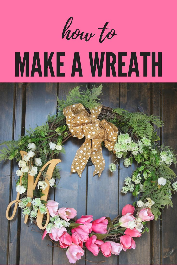 Freshen up your front door or home with a beautiful spring wreath.  There's no need to pay big bucks.  Here's a step by step tutorial for how to make your own.  It's so much easier than you think.