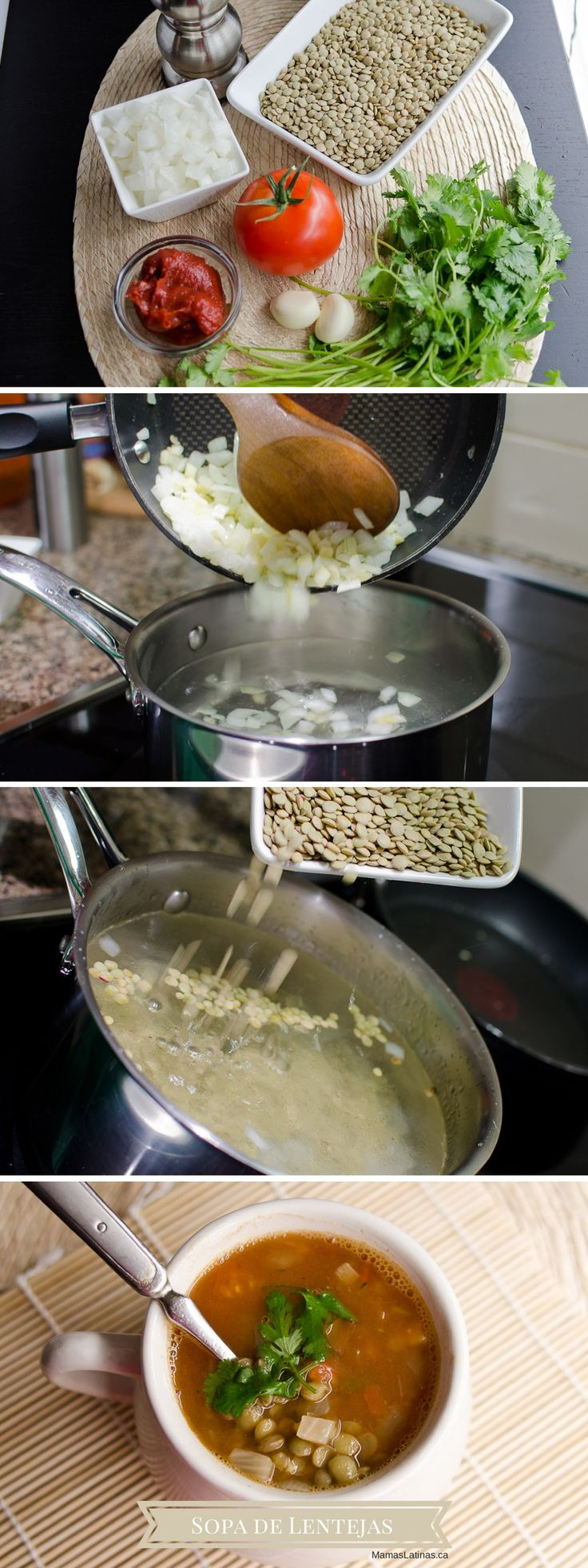 Receta Sopa De Lentejas #mamaslatinas