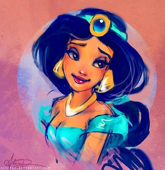 Alladdin's Princess Jasmine cartoon illustration via www ...