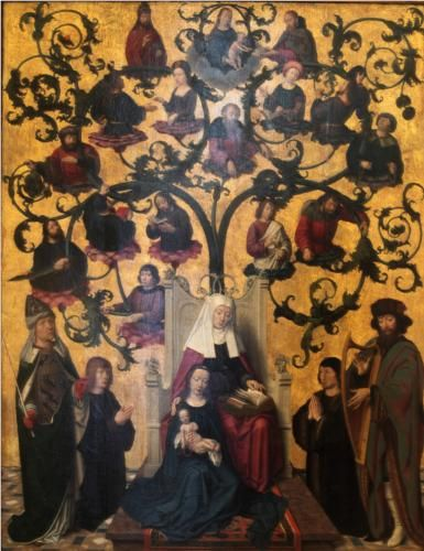 Lineage of Saint Anne - Gerard David