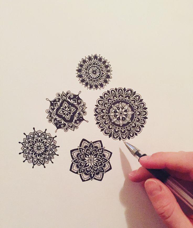 Small freehand mandalas by Sam Schroeder • @samschroederart • INSTAGRAM: samschroeds