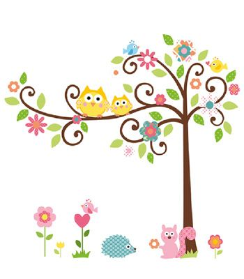 Buy your Peel & Stick Wall Decorations - Scroll Tree from Kiddicare Nursery Decorations| Online baby shop | Nursery Equipment